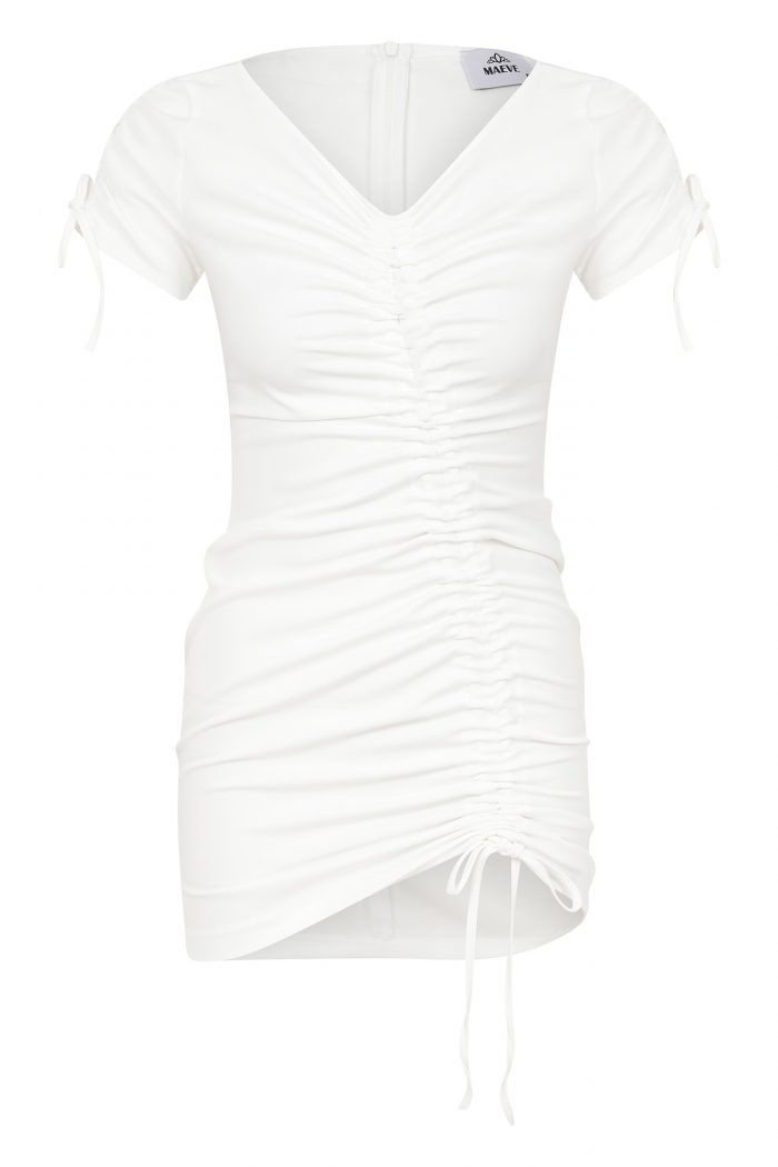 Maeve - Blurred Line Dress - White